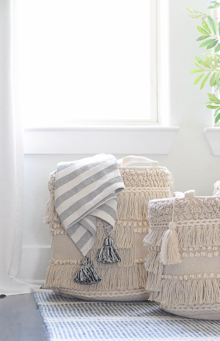 Drew Barrymore Flower Home Line at Walmart - boho macrame basket set of 3