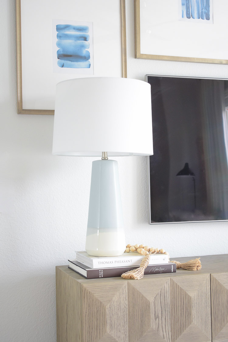 Summer Home Tour - light blue lamp