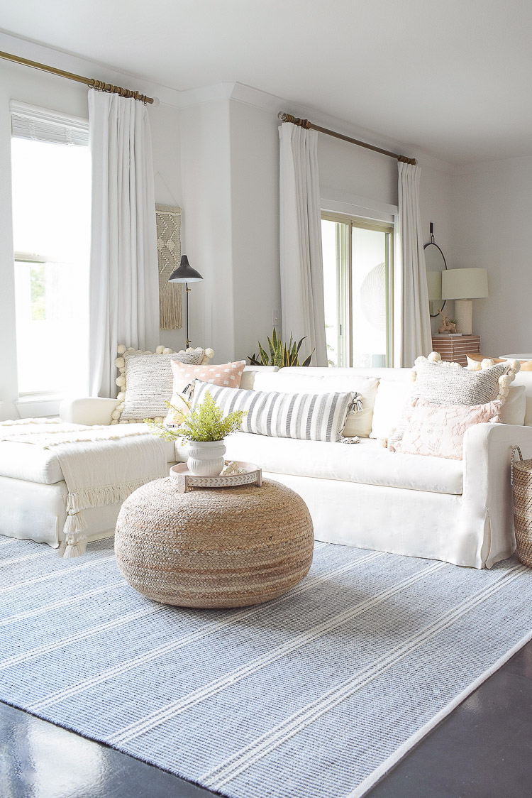Summer Home Tour - Boho Chic Living room