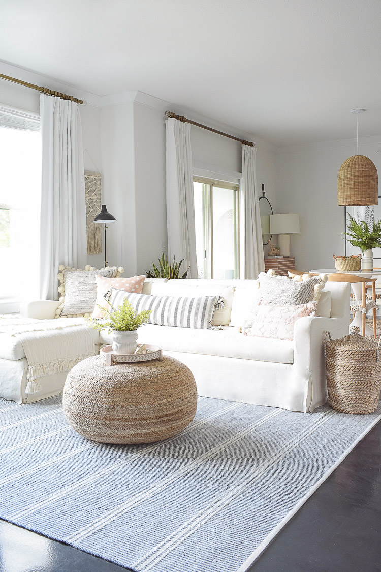 Summer Living Room Tour - Boho chic living room design