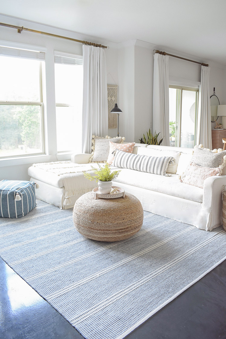 Summer Home Tour - Boho Chic Living Room Design - light and airy