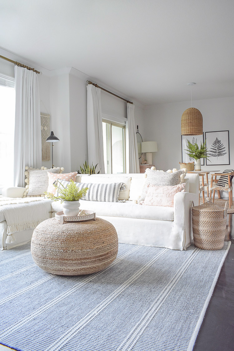 ZDesign At Home Summer Home Tour - Boho Chic Light Airy Living room Tour