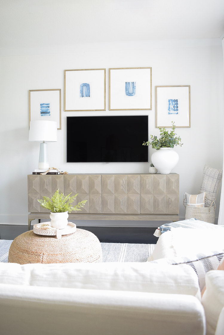 Summer Home Tour - Boho Chic TV Gallery Wall Design