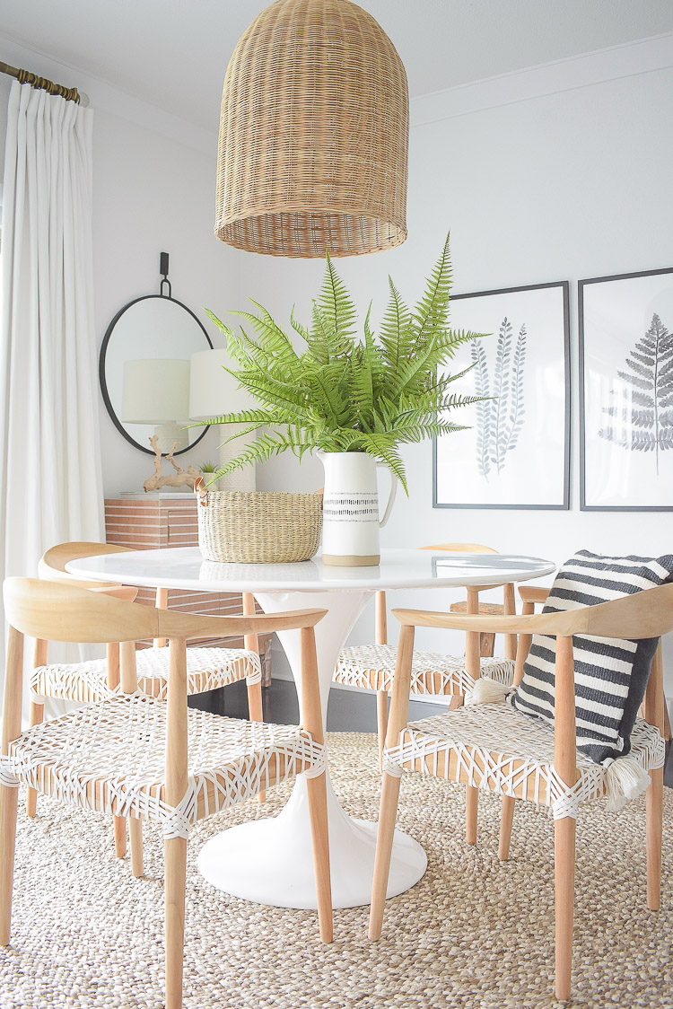 Tips for adding natural summer decor + a dining room tour