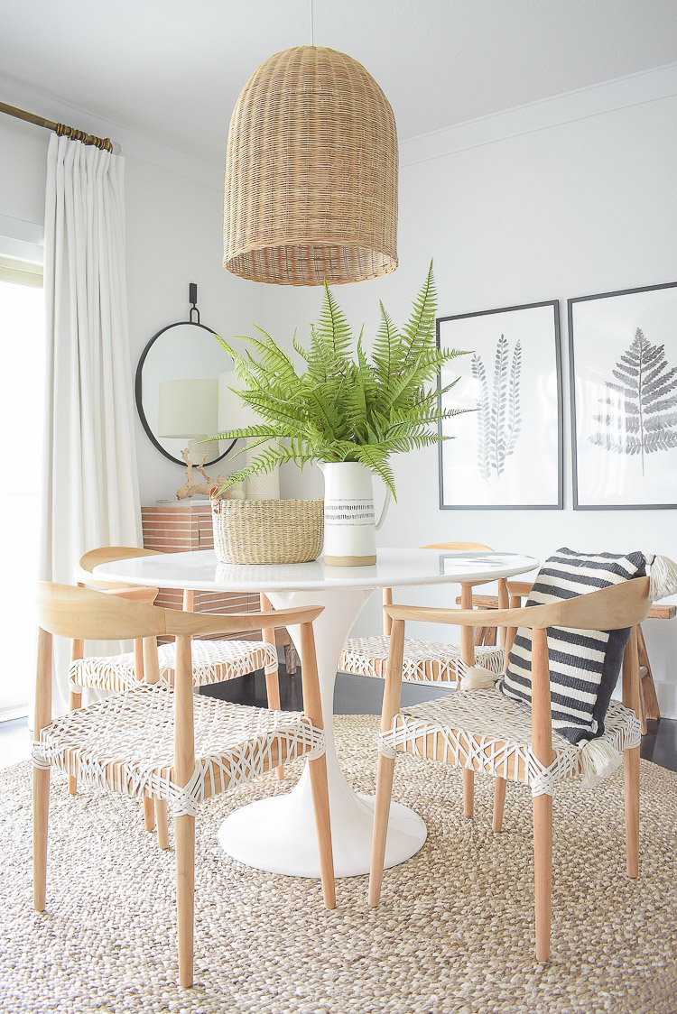 Tips for adding natural decor for summer + a dining room tour