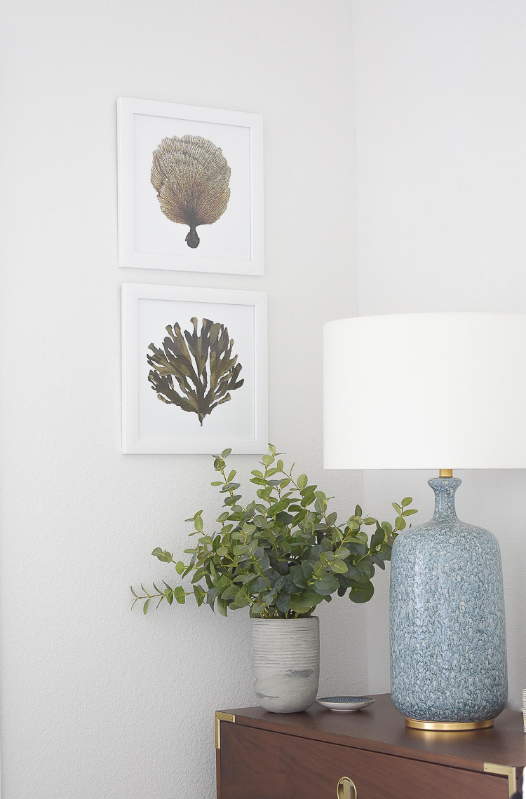 4 Subtle Ways To Add Coastal Decor To Your Home - Coastal Inspired Bedroom - coastal, nautical art prints