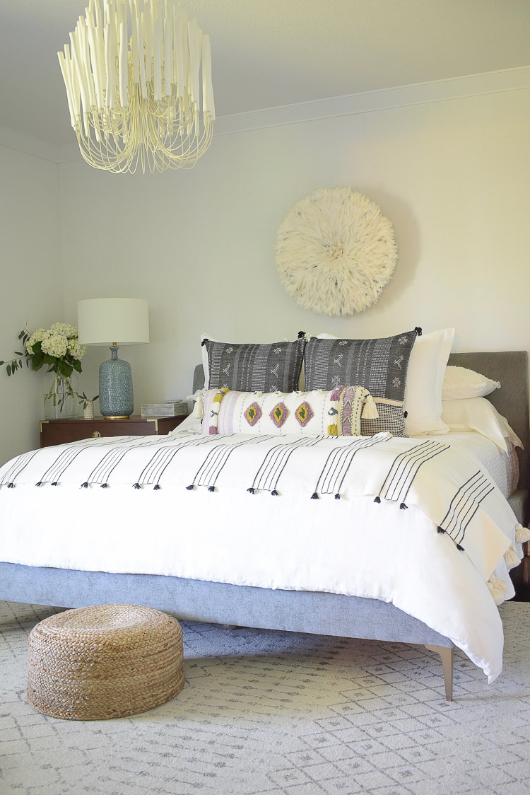 Zdesign At Home - Boho chic summer bedroom tour