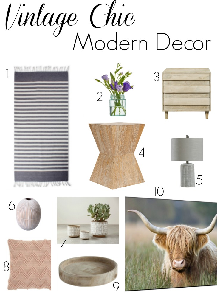 Vintage Chic Modern Home Decor