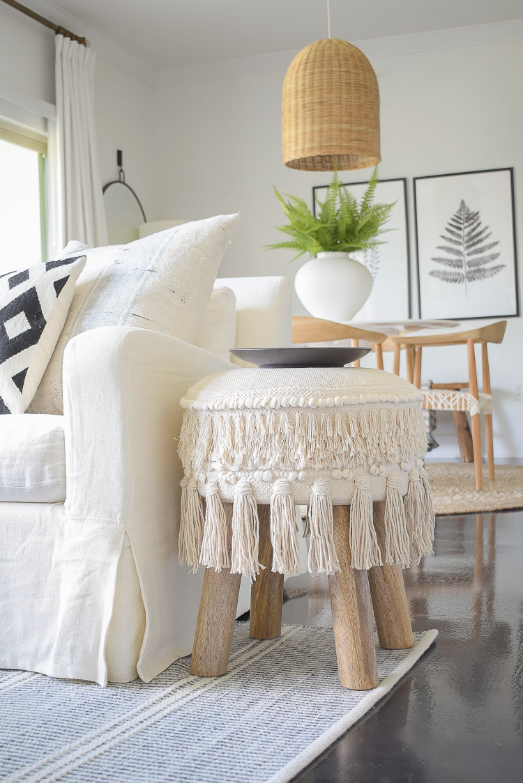 Small space, big style furniture solutions - boho tassel fringe stool, ottoman