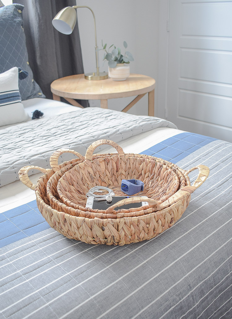 Stylish Home Decor & Organizing Ideas for Back To School - flat baskets set of 3