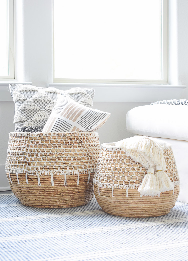 Small space, big style solutions - fringe macrame baskets