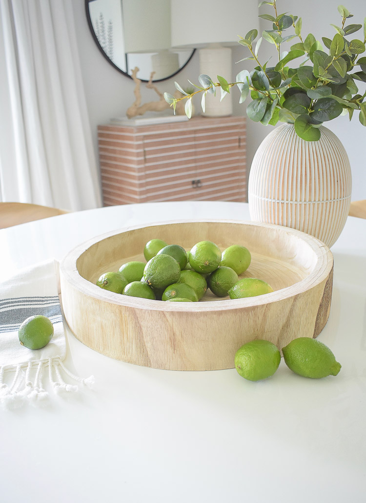 Vintage Chic Decor Done Modern - Wooden carved tray / bowl