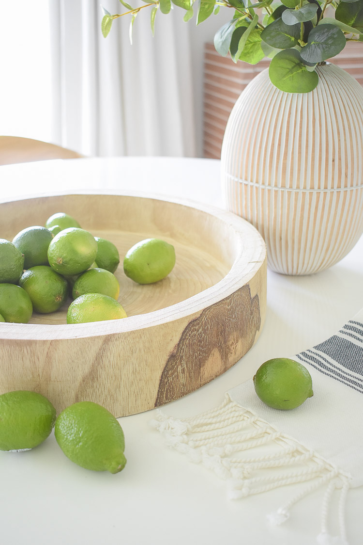 Vintage Chic Done Modern - decorative carved wooden tray / bowl