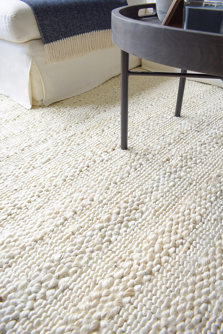 Chunky Wovens for Fall - Chunky textured rug