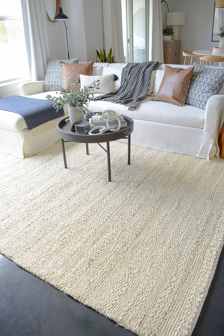 Chunky Wovens For Fall - Chunky cream rug from Walmart