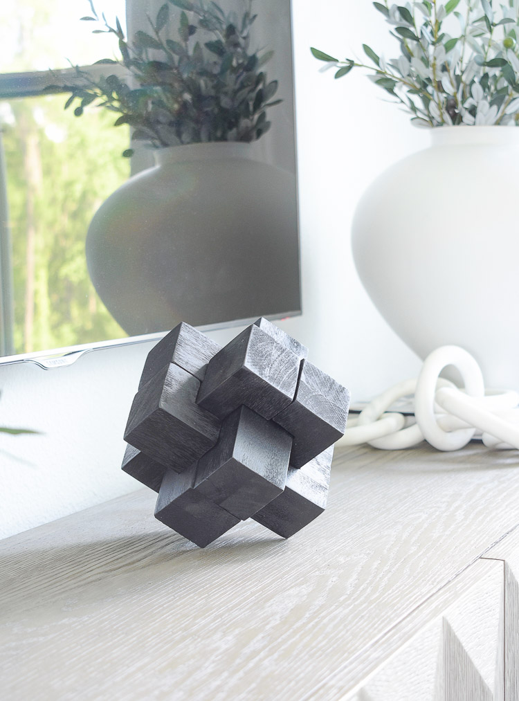 ZDesign At Home Fall Home Tour - black desk cube / puzzle