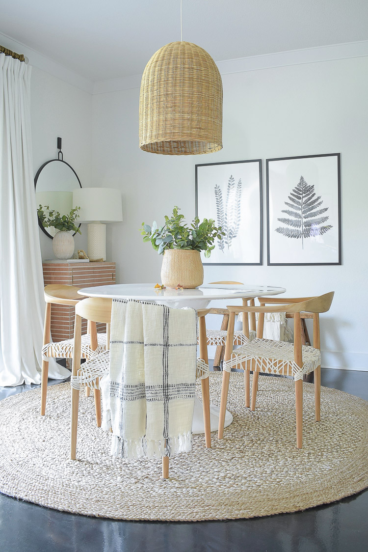 A textured fall home tour - fall dining room tour