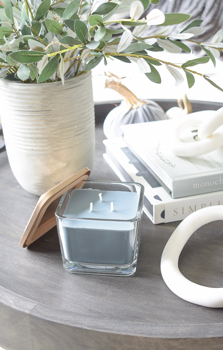 Chunky Wovens for Fall - Dark and Moody 3 Wick Candle