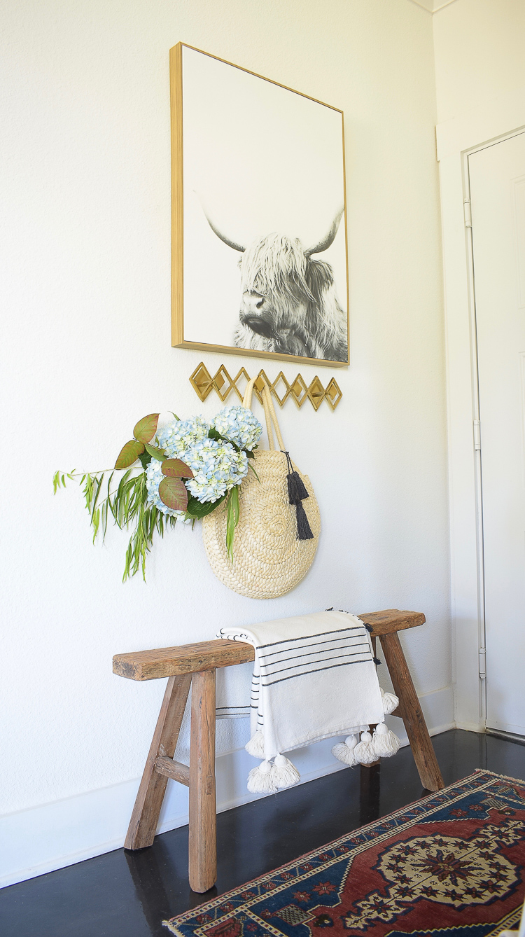 Chic Modern Fall Styled Entry - modern fall decor in entryway