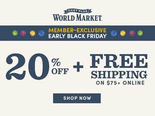 World Market Pre-Black Friday Sale