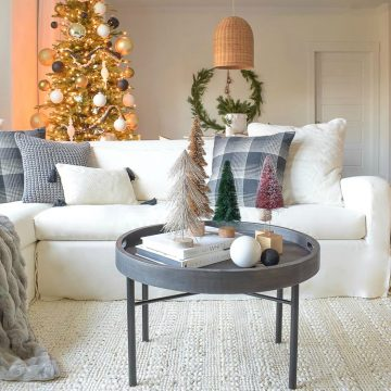Modern Christmas Living Room Tour - Black White & Gold