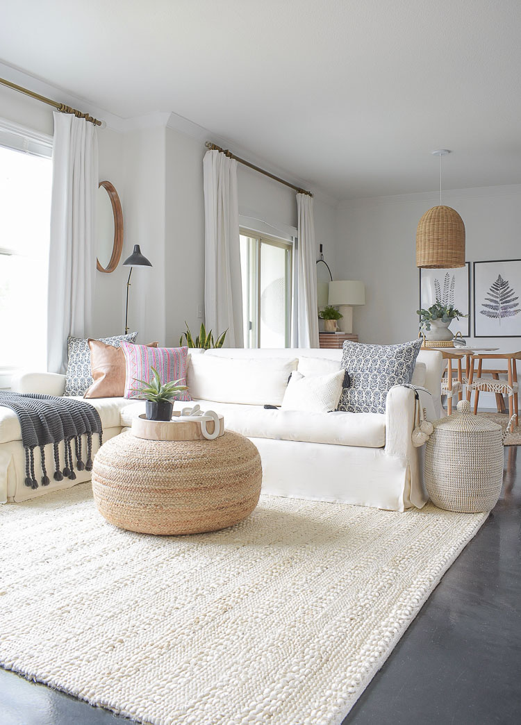 Winter Home Tour + Tips - cozy neutral winter living room