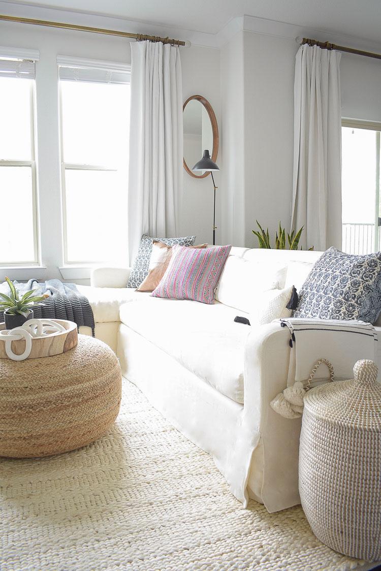 Winter home tour - boho chic pillows