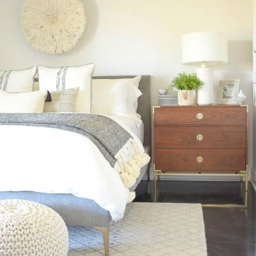 Black and White Spring Bedroom Tour