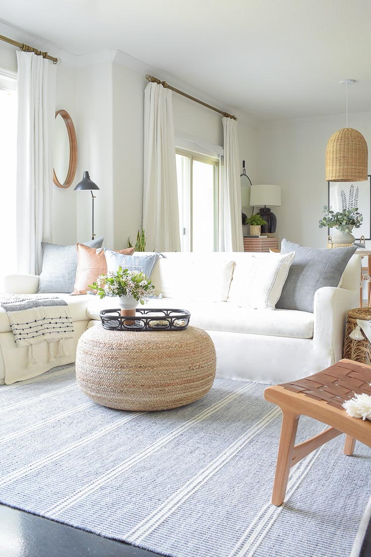 Spring living room blog hop tour
