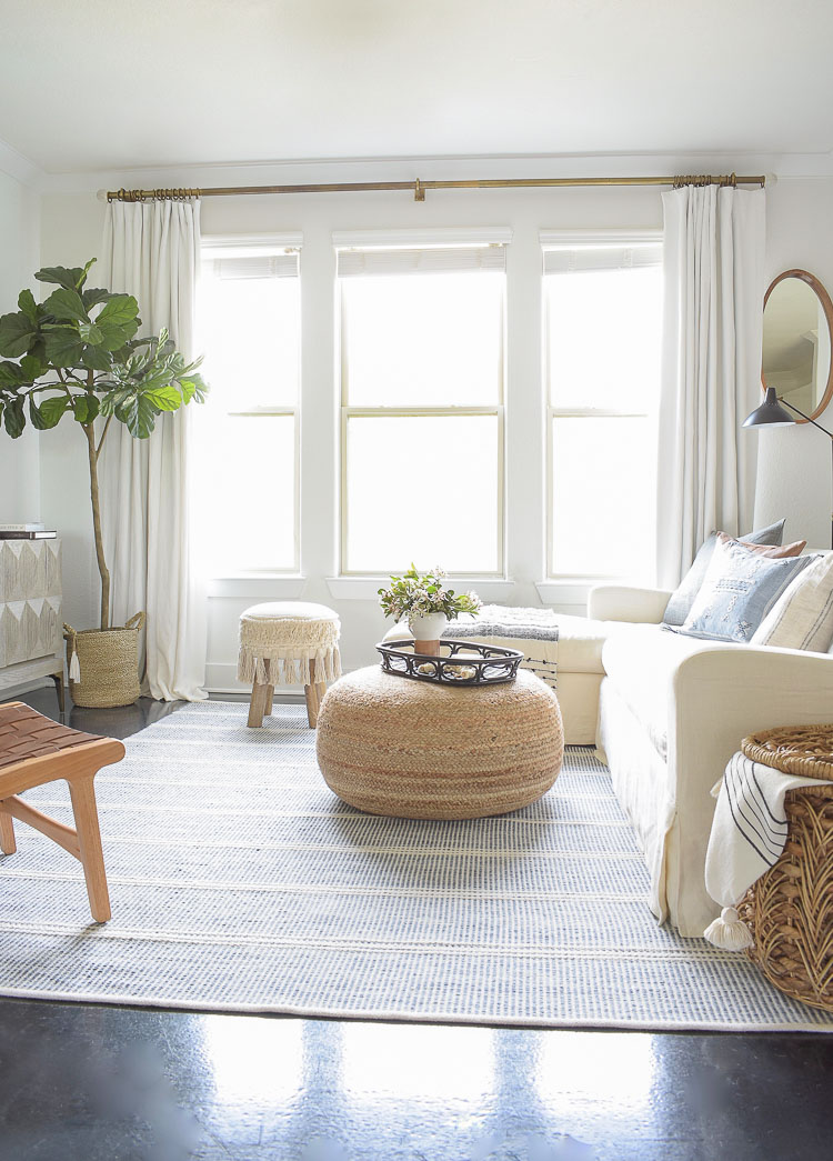 Boho Chic Spring Living Room Tour