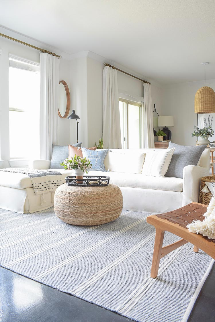 Spring boho chic living room tour