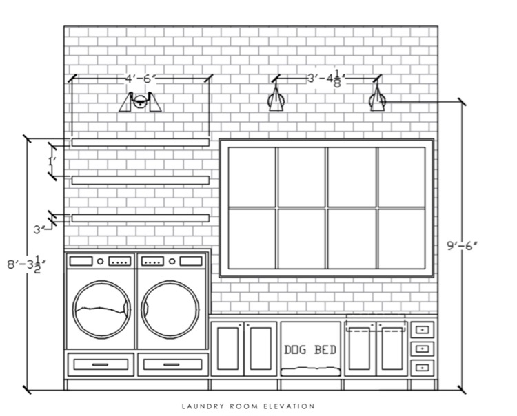 Laundry room elevation