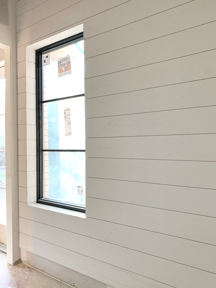 shiplap and andersen windows in mudroom