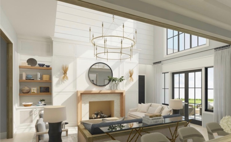 Tipler design build living room in Pine Island