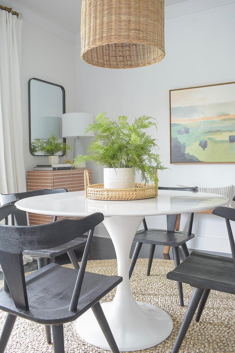 Spring dining room tour + new black dining chairs