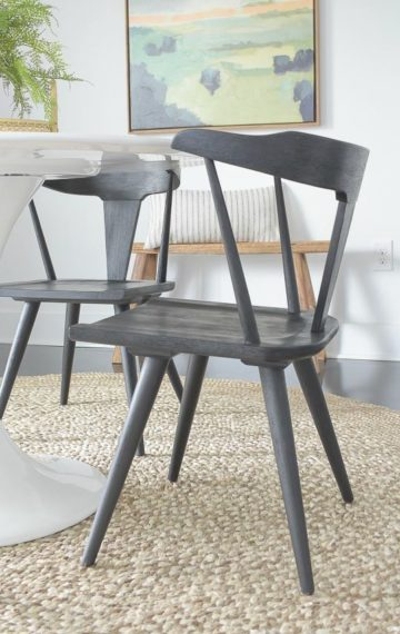 New Black Dining Chairs + Spring Dining Room Tour