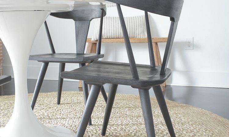 Black Modern Farmhouse Dining Chair Round up + room tour