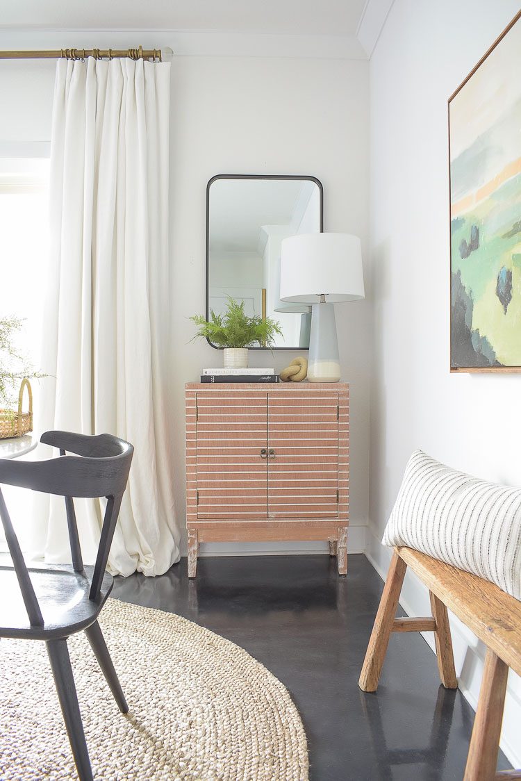 Studio McGee collection at Target - mirror and accessories, black modern farmhouse dining chairs