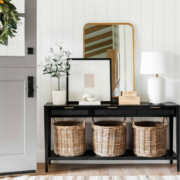 Studio McGee Styled Cane Front Console Table for Target