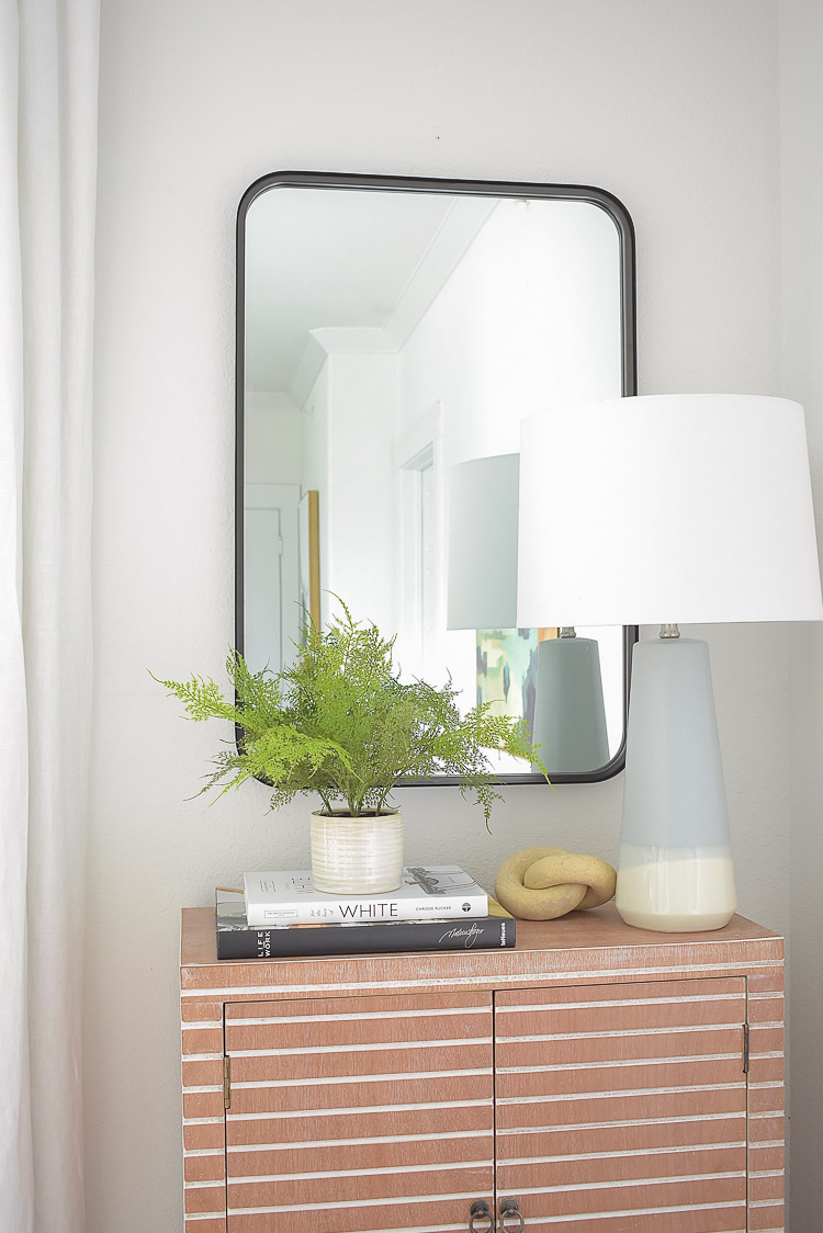 Black rectangular mirror from Studio McGee for Target