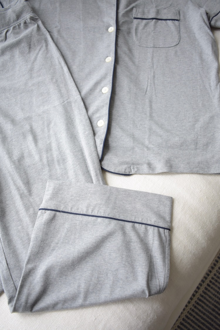 jcrew cotton gray loungewear pjs