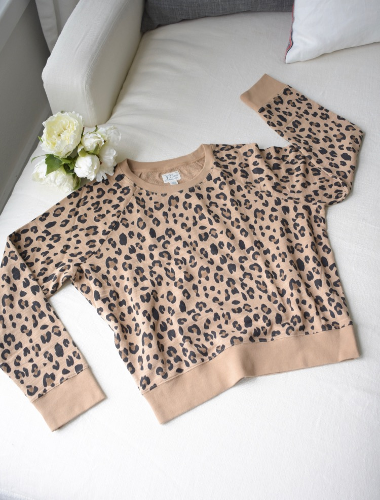 Leopard lightweight sweatshirt - cropped