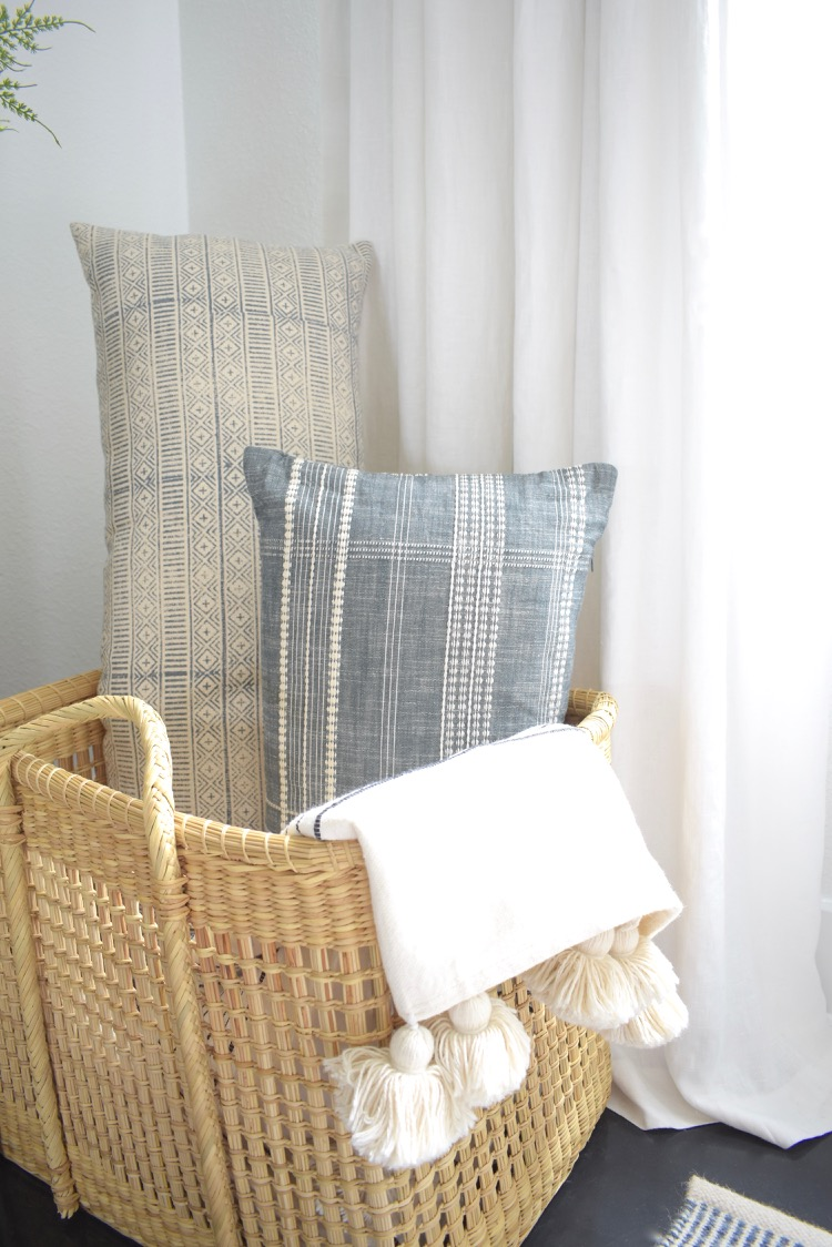 Studio McGee Woven Plaid Pillow in Gray