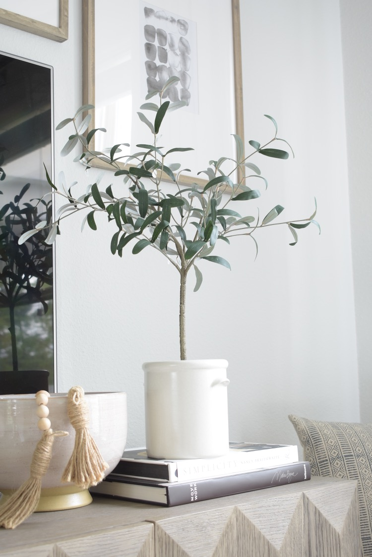 Studio McGee at Target faux olive tree in crock