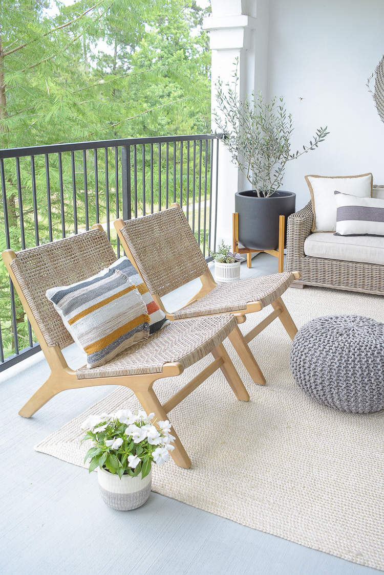 Stay at home patio refresh - modern outdoor chairs