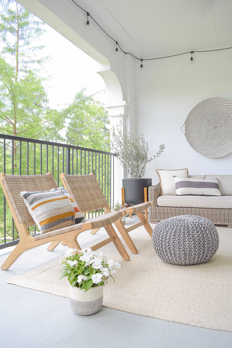 Stay At Home Patio Refresh Tips + Tour, modern small patio with lots of personality