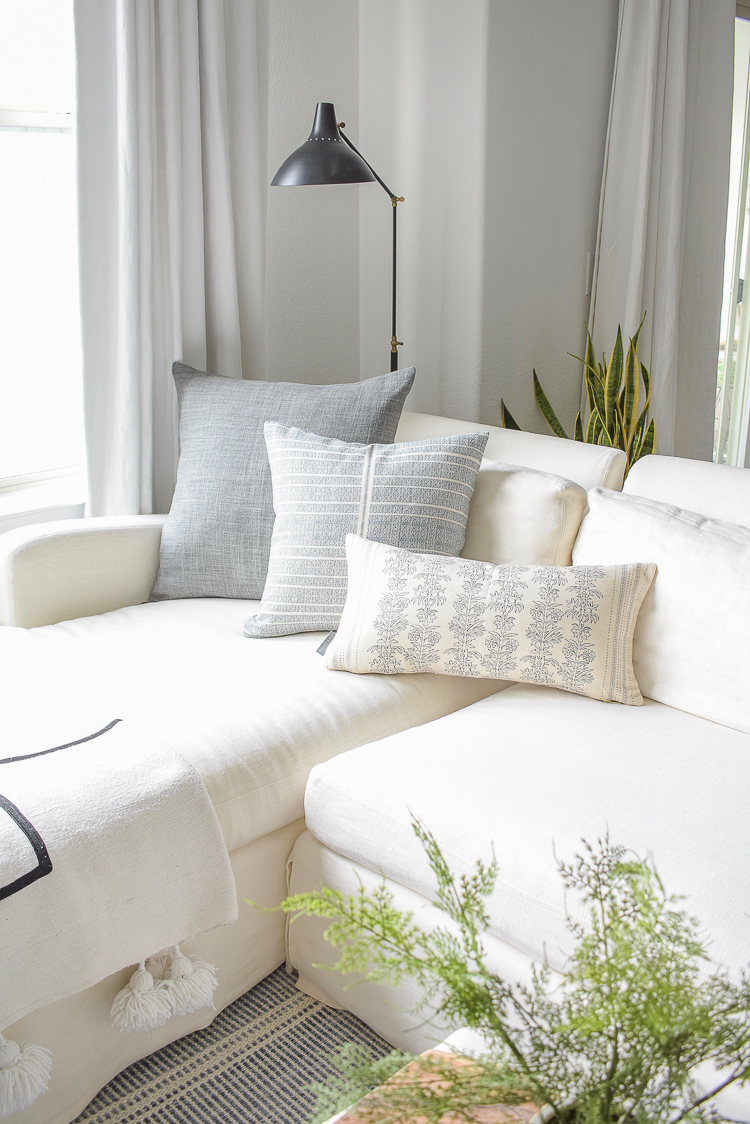 McGee & Co styled pillows - summer home tour