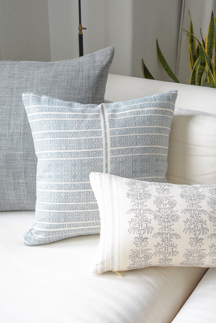 How to decorate for summer - Magee and co styled pillows