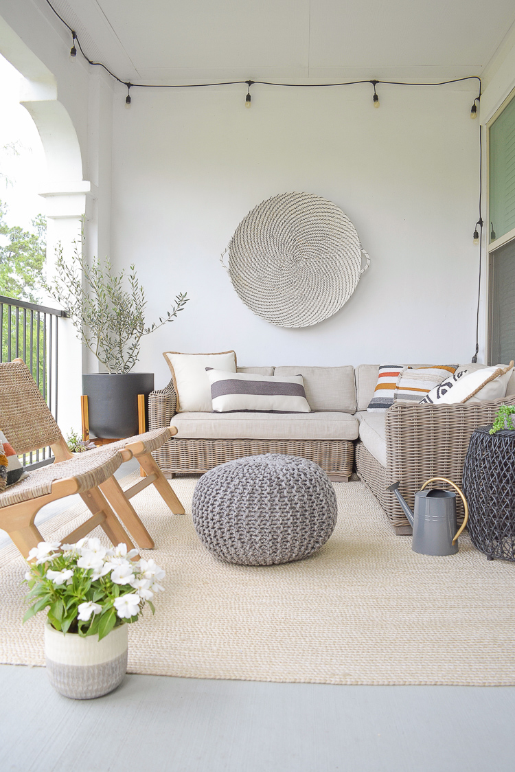 Modern outdoor patio refresh for stay at home summer
