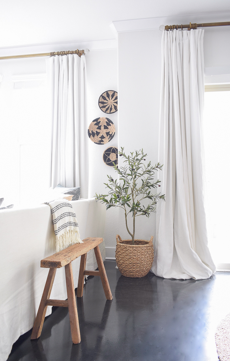 Best faux olive tree & hanging wall baskets